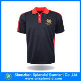 Outdoor를 위한 최신 Design High Quality Embroider Black Polo Tshirt