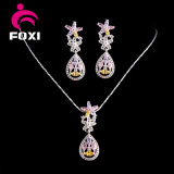 結婚式のためにセットされる豪華なデザイン18k金によってめっきされる女性の宝石類