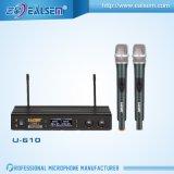 VHF micrófono inalámbrico para equipos de música de la reunión de KTV