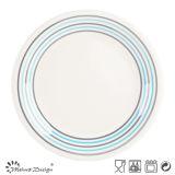 [16بكس] عشاء مجموعة مع بسيطة أشرطة تصميم قشرة لون