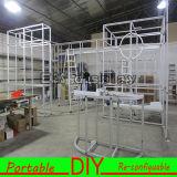 Carrinho reusável portátil forte e durável da exposição com cabine de alumínio