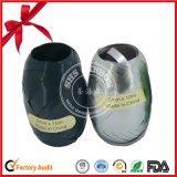Metallisches schwarzes und silbernes Geschenk-lockiges Farbband
