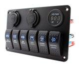 Perforatore di pannello blu dell'interruttore di attuatore di automobile dei 6 gruppi del circuito marino impermeabile LED del crogiolo