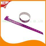 Bandes polychromes en plastique de bracelet de bracelet d'identification d'impression de divertissement (E8070-20-24)