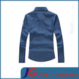 Men (JC7044)를 위한 우연한 Slim Long Sleeve Denim Shirt