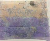 Striped ткань напечатанная Organza для одежды лета способа