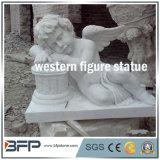 Западный рисунок белым естественным статуи высеканные гранитом каменные/скульптура для сада