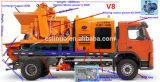 高性能の移動式強制具体的なミキサー油圧ポンプトラック機械