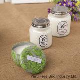 صنع وفقا لطلب الزّبون رائحة رائحة شمعة مع بيضاء لون زجاج مرطبان