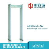 Metal detector dell'interno chiaro sano del Archway di obbligazione dell'allarme 66kg con 6/12/18 di zone
