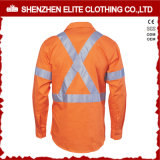 Визави Work Shirt таможни 3m Reflective Cotton Drill Hi
