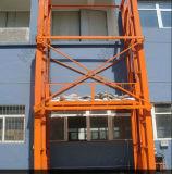 Tabela de trabalho Elevated popular de Hydraulice do trilho de guia para a carga do armazém