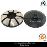 4 pouces 15mm Segment Diamond Concrete Grinding Wheel