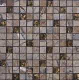 床タイル(FYSG045)のための水晶混合された自然な石造りのモザイク