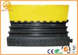 Резиновый пандус протектора кабеля канала пола 3 электрического провода напольный