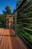 Inferriata residenziale del cavo dell'acciaio inossidabile di alta qualità, inferriata della piattaforma del cavo per l'interiore o esterno