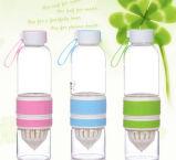 Высокая бутылка воды боросиликата 700ml Juicing портативная