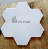 Черная белая мраморный плитка пола шестиугольника для интерьера