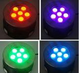 lumière sous-marine de 3in1 R/G/B/W/Ww/RGB 6W 18W DEL Inground