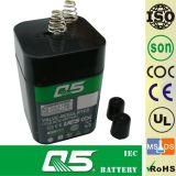 batterie 6V5.0AH (ressort) rechargeable, pour la lumière Emergency, éclairage extérieur, lampe solaire de jardin, lanterne solaire, lumières campantes solaires, torche solaire, ventilateur solaire