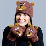 Cappello animale caldo sveglio, guanto (JRAD035)