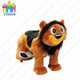 Riding льва спортивной площадки парка ребенка плюша езда напольного электронного животная