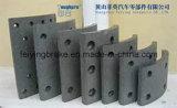 Изготовление обкладки тормоза в Китае (WVA: 19032 BFMC: BC/36/1) для сверхмощной тележки