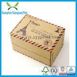 로고 인쇄와 함께 사용자 지정 고급 접이식 크래프트 골판지 종이 선물 포장 상자