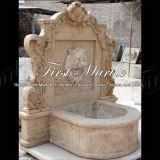 Fontaine de mur en pierre de marbre de calcium d'antiquité de fontaine de granit Mf-1046