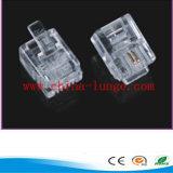 Plugues de telefone de Rj11 6p2c/conetor do telefone Plug/Rj11 Plug/6p2c