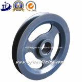 Roda do punho do aço inoxidável de ferro de carcaça do OEM da carcaça da roda