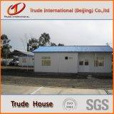 Edifício móvel/modular do painel de sanduíche claro do frame de aço/pré-fabricou/casa Prefab da família