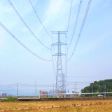 35kv Linear Angle Steel Power Transmission Tower (단 하나 회로)