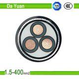 Alambre de acero del cable subterráneo/tipo cable de transmisión de cobre acorazado