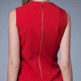 نمو أنيقة سيّدة مكتب يرتدي لباس أحمر قصير كم نساء رسميّة نحيلة نوبة ثوب