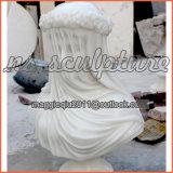 Arare завуалировало бюст невесты в белом мраморе для домашнего украшения MB1701