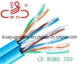 Cable sólido de los pares/ordenador de LSZH Cat5e UTP 4/cable de datos/cable de la comunicación/cable/conector audios