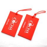 Étiquette de bagage de PVC de modèle de mode