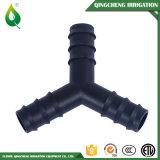 Irrigation agricole 3 garnitures de connecteur de tuyau flexible de tube de voie