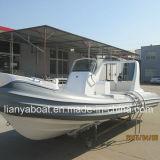 Venda inflável do barco de Hypalon do barco de motor do console Center de Liya 6.6m