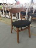 Cadeira estofada couro do café da madeira contínua do plutônio (FOH-BCA16C)