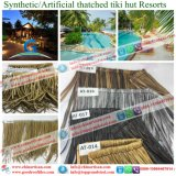 De vuurvaste Synthetische Plastic Palm met stro bedekt Caraïbische Natuurlijk kijkt