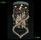 De Hotsale LED de la magia iluminación pendiente cristalina del techo abajo