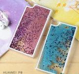 中国の卸し売り高品質のパソコンのHuawei P8 P9の流砂の電話箱のための液体の砂の携帯電話カバーケース
