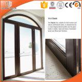 Portes de pliage en aluminium en bois solide, porte articulée en aluminium fortement félicitée en métal en bois solide de Clading d'Européen