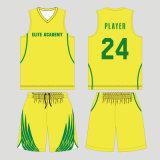 Equipe feita sob encomenda basquetebol reversível Sublimated Jersey com seus logotipos