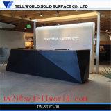 Corian ilumina acima a mesa de recepção preta moderna da mesa de recepção da barra