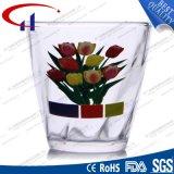 bleifreies gedrucktes Glassaft-Cup der Blumen-160ml (CHM8189)