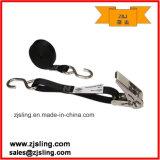 """1 """" cinghia nera del cricco di X 10 ' con il cricco & gli S-Ami dell'acciaio inossidabile"""