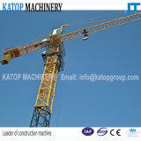 Katop Brand Qtz160-6515 Grua de torre de construção dupla de máquinas de construção